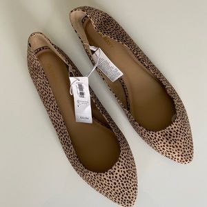 Old Navy cheetah print pointy ballet flats size 9